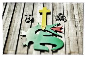 Der Drache, das Symbol des Trägervereins am JGH Himmelreich