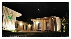 Das Jugendgästehaus Himmelreich bei Nacht